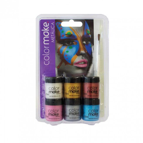 Kit Tinta Facial c/6 Cores Metal